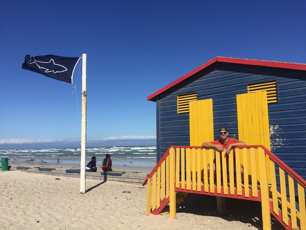 Klasická převlíkárna na pláži - Muizenberg