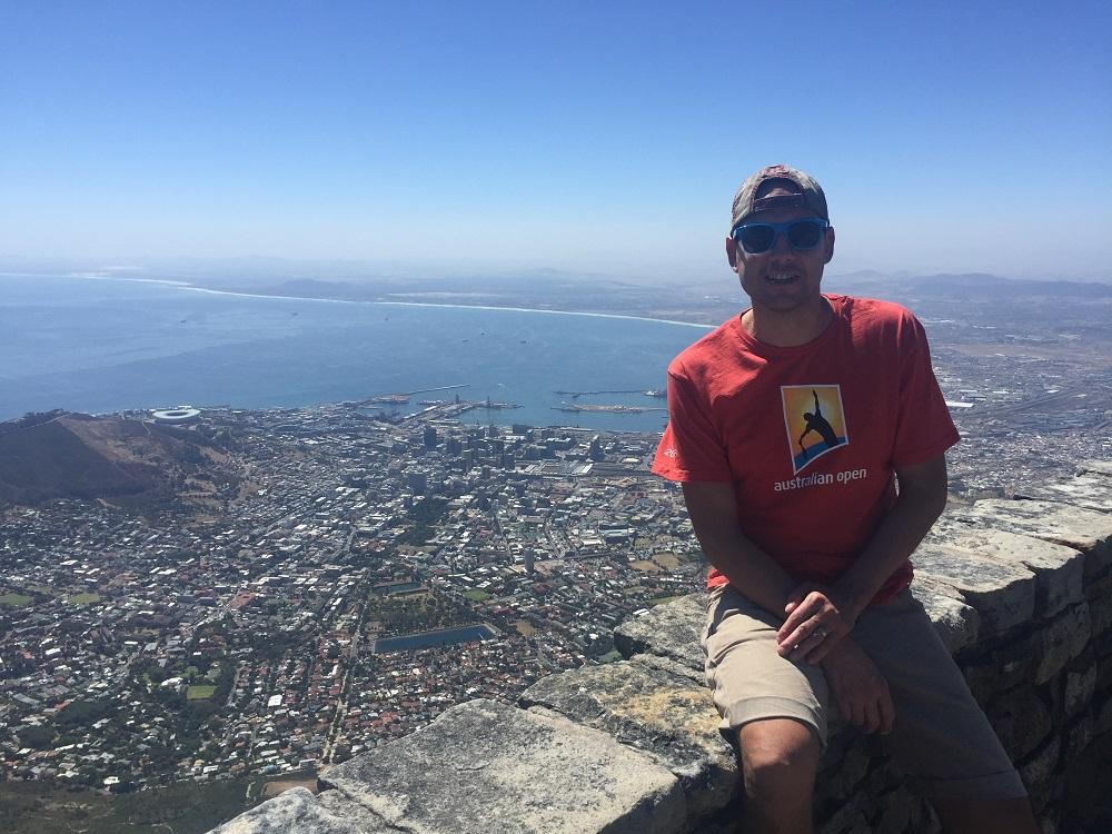 Pohled na Cape Town ze Stolové hory