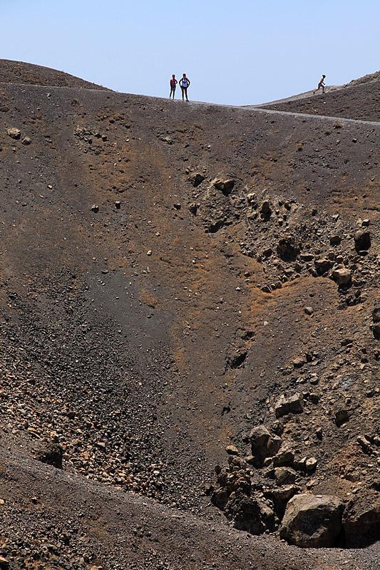 Nea Kameni - nad vulkánem