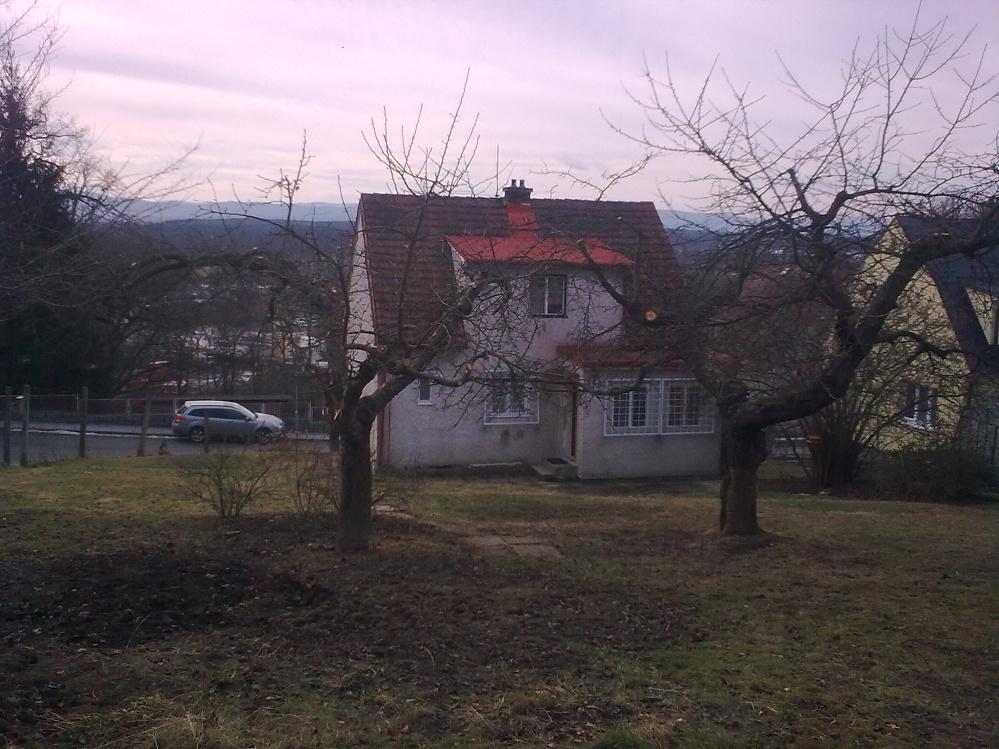 Pohled horního konce zahrady