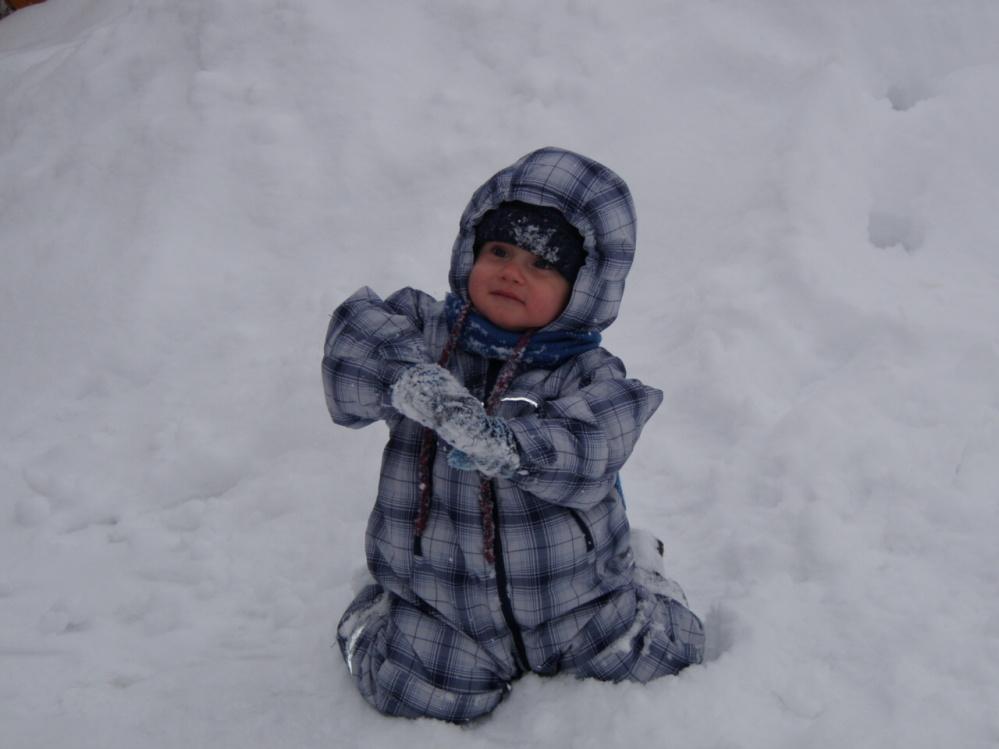 To je sněhu, mňam