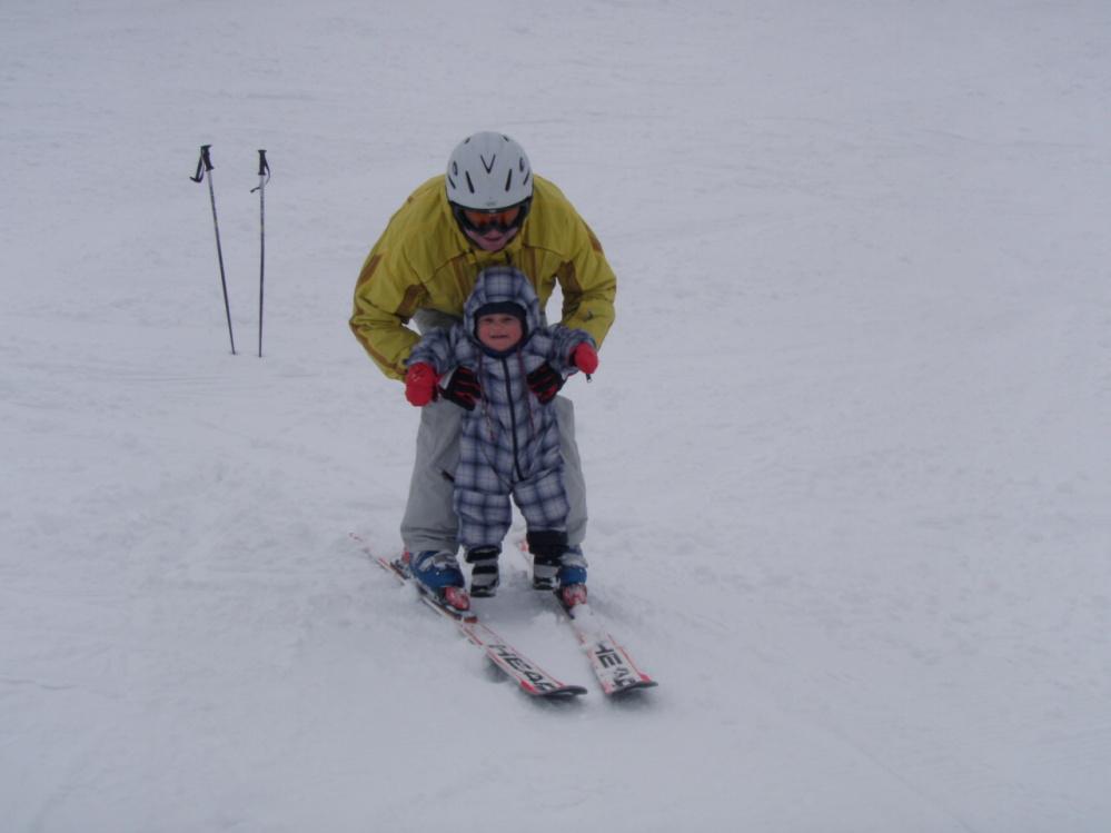 ....a ještě na lyžích