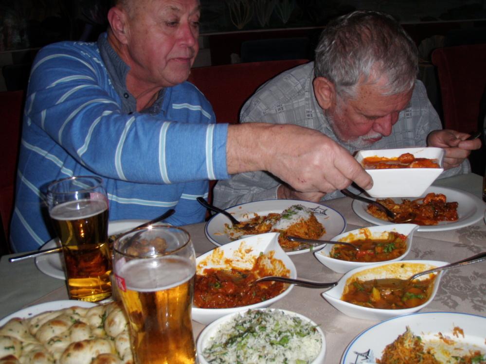 Hody v indické restauraci